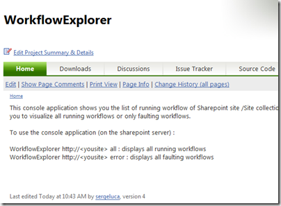My  Sharepoint workflows Scanning tool uploaded to Codeplex