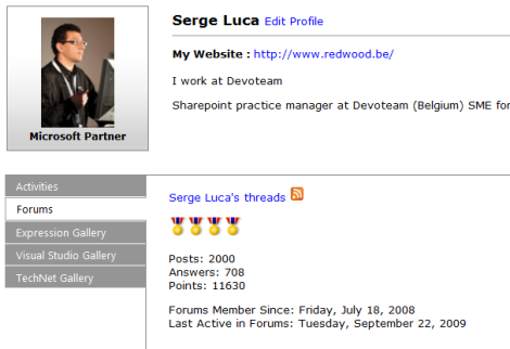 My 2000th post in the Sharepoint newsgroups…