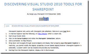 Visual Studio 2010 Tools for Sharepoint 2010