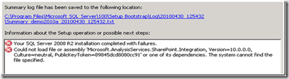 Installing Powerpivot for Sharepoint : follow this advice (or waste 1 day)