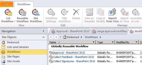sharepoint 2010 workflow templates