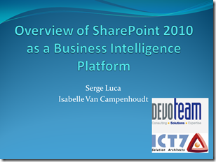 Overview of SharePoint 2010 as a Business Intelligence