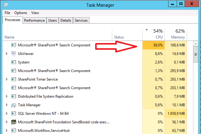 Slow SharePoint 2013 VM : set the search PerformanceLevel to Reduced
