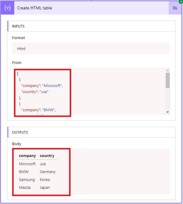 Microsoft Flow (advanced) tutorial : creating a CSV to JSON